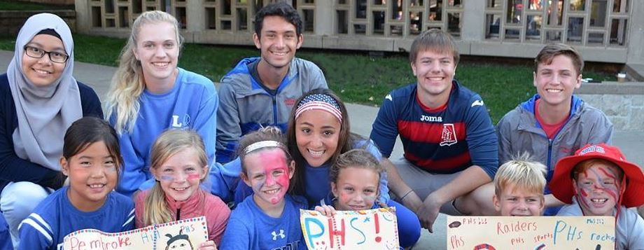 Pembroke Hill students show school spirit with painted faces and signs